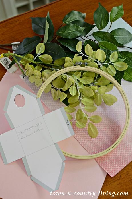Supplies for DIY Birdhouse Wreath