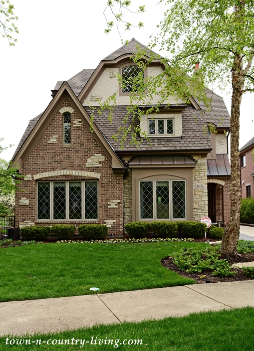 Brick and Stone Tudor Home in Naperville, IL