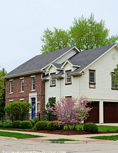 Clapboard and Brick Home in Naperville, IL