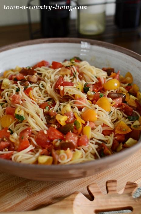 Cappellini with Tomato Cold Sauce
