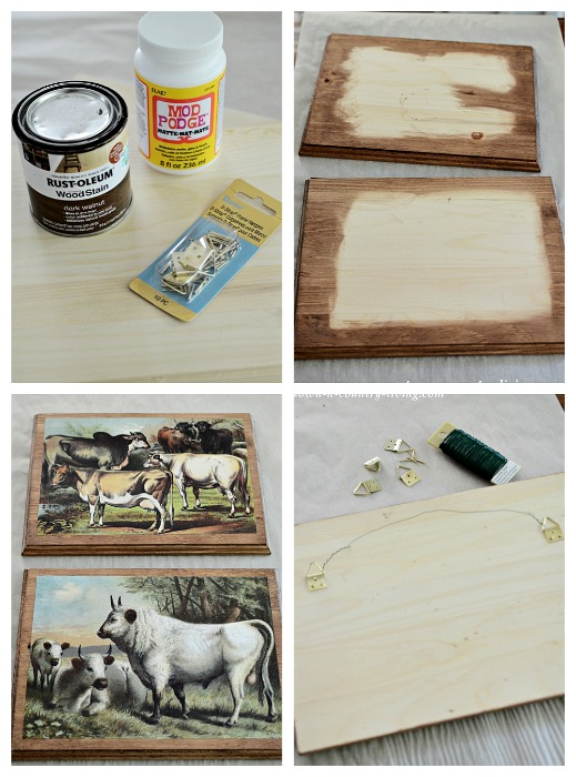 How to Make Farmhouse Art with Cow Printables