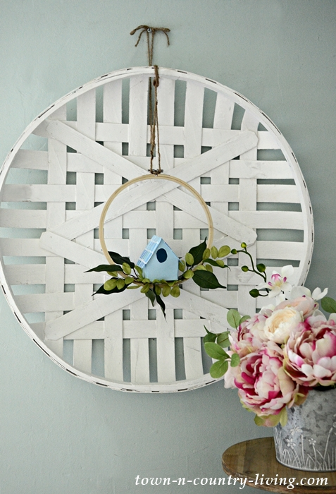Blue DIY Paper Birdhouse Wreath