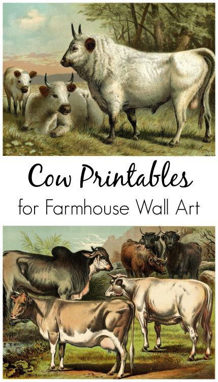 Free Cow Printables for Farmhouse Art