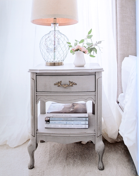 Gold and Grey Side Table in French Vintage Decor Book