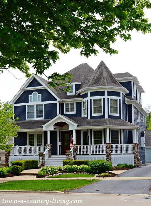 Gray Victorian Home with Turret in Eclectic Neighborhood