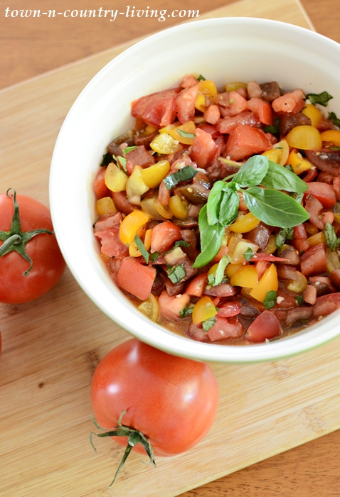 Heirloom Tomatoes for Cold Sauce Recipe