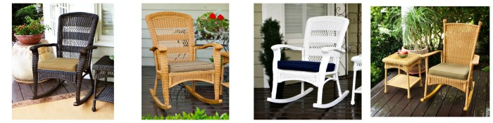 Wicker Rocking Chairs for the Summer Porch