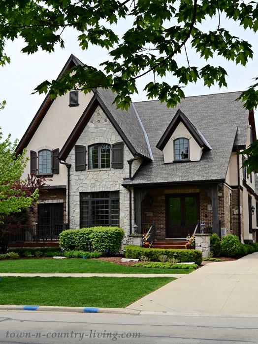 Large Stone Tudor Style Home