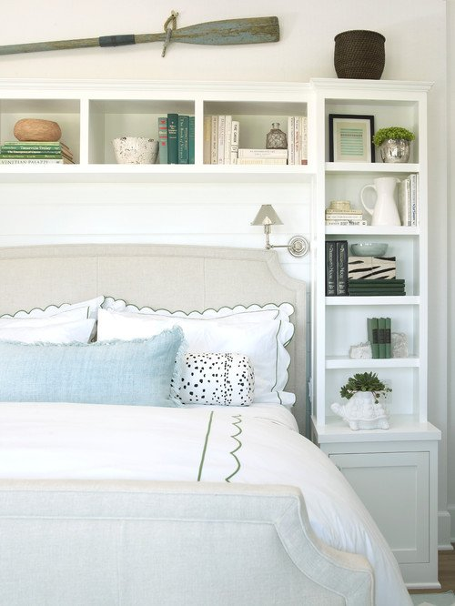 Summer Fresh Bedroom in White and Green Coastal Style