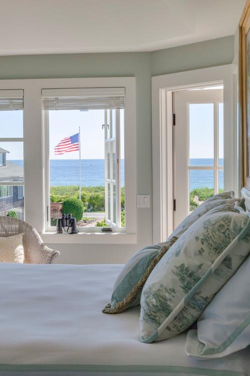Beachfront Home Schlafzimmer mit Meerblick