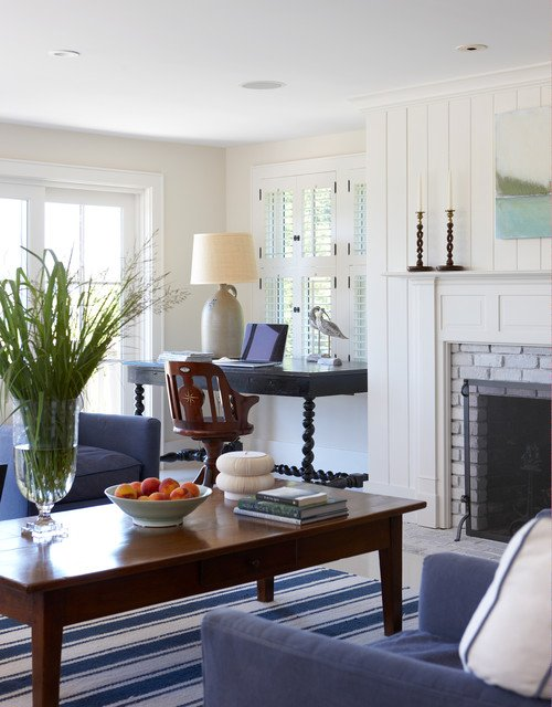 Coastal Cottage Living Room in Martha's Vineyard