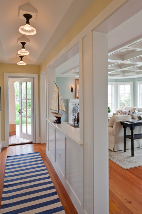 Entrance Hall of Rhode Island Beachfront Home
