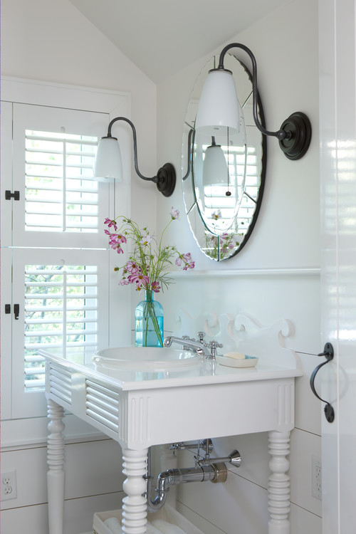 Cottage Beach Style Powder Room Bathroom