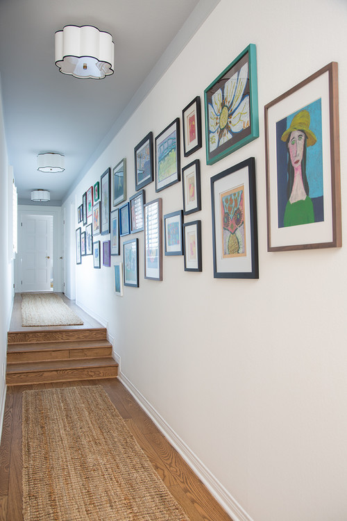 Eclectic Gallery Wall in Hallway