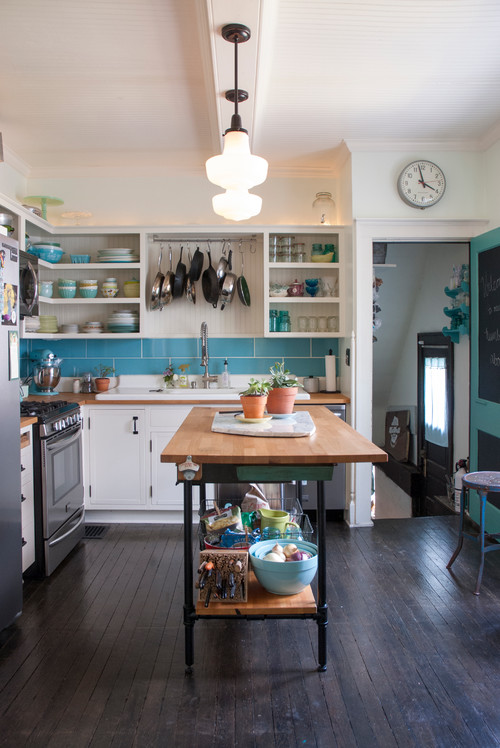 Eclectic Kitchen with Flea Market Finds
