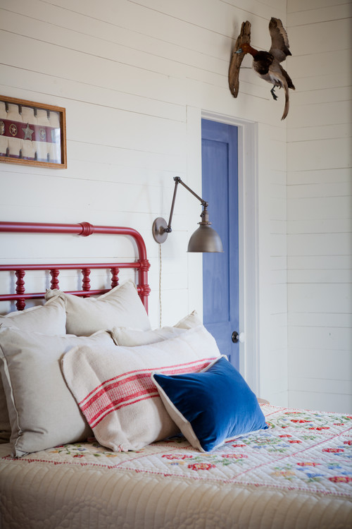 Red White and Blue Summer Fresh Bedroom Ideas
