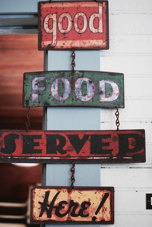 Vintage Good Food Kitchen Sign