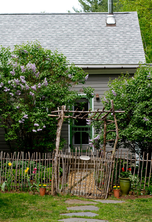 Charming Picket Fence and Arbor