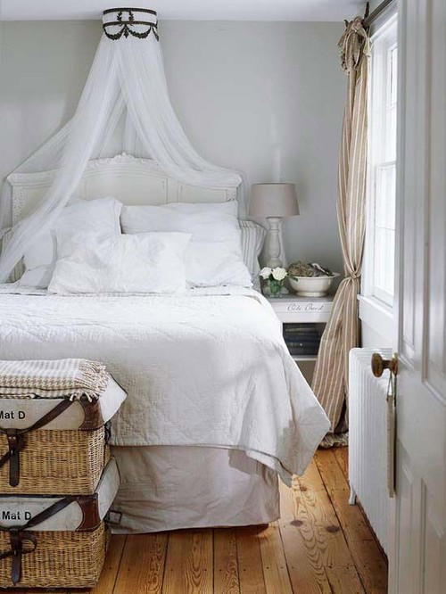 White and Soft Romantic Summer Fresh Bedroom Ideas