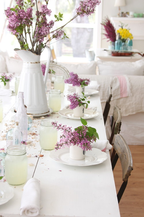 Dreamy Whites Shabby Chic Dining Room