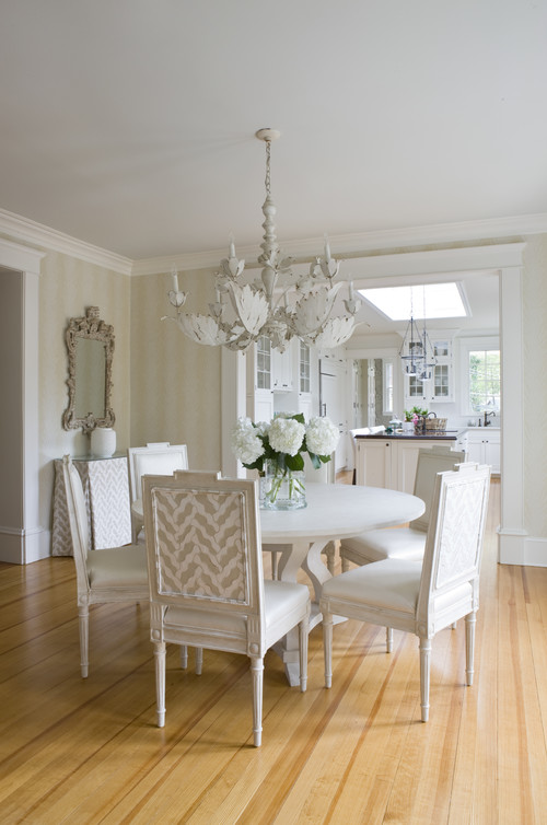 White Romantic Dining Room