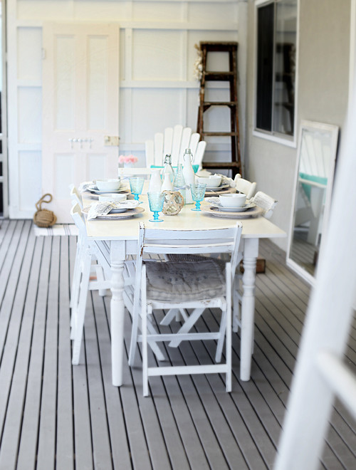 Rustic Cottage Style Dining Porch