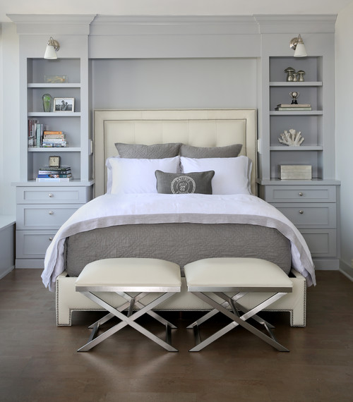 Summer Fresh Bedroom in White and Light Gray