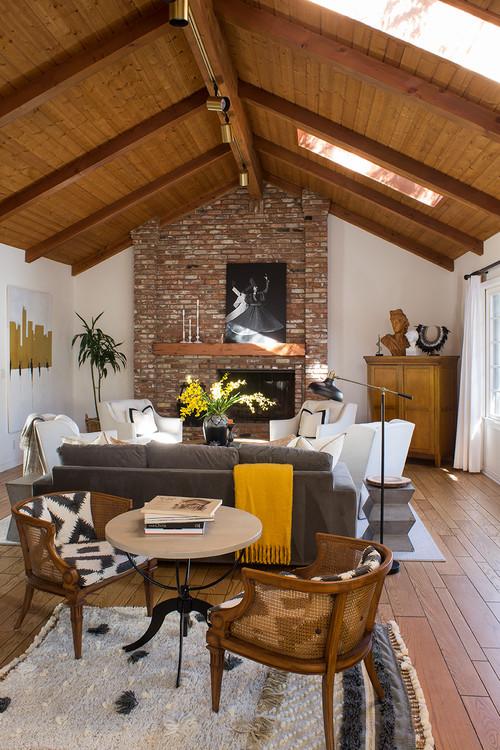 Modern Neutral Decor in California Family Room
