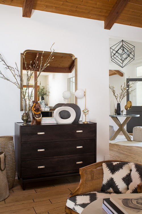 Wood Chest with Modern Neutral Vignettes