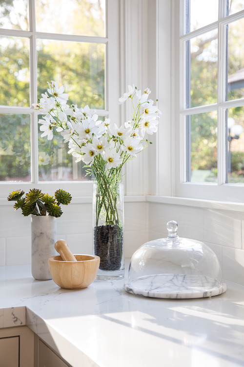 Daisies in a Sunny Kitchen Window