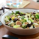 Mission Figs and Walnut Salad with Tangy Manchego Cheese