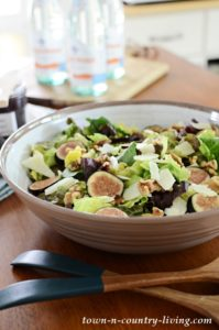 Mission Fig and Walnut Salad with Manchego Cheese