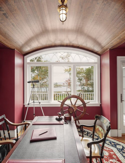 Burgundy Fall Color in Home Office