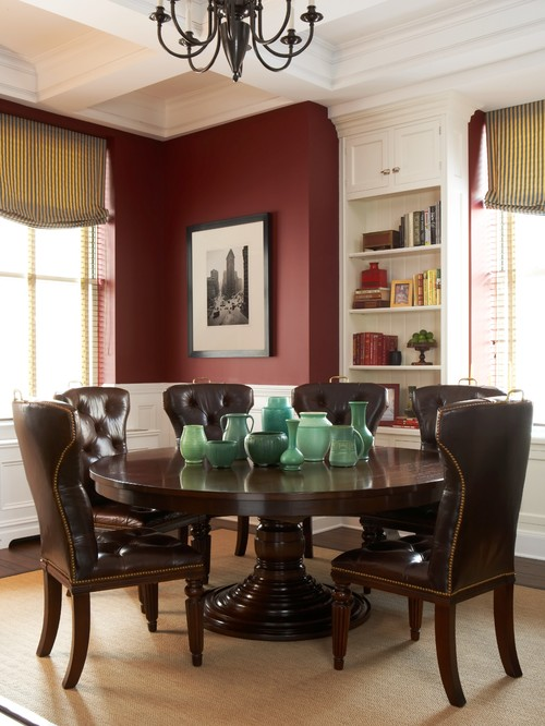 Burgundy Fall Color Dining Room