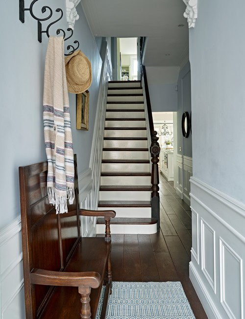 Victorian Style Hallway in Renovated London Townhouse