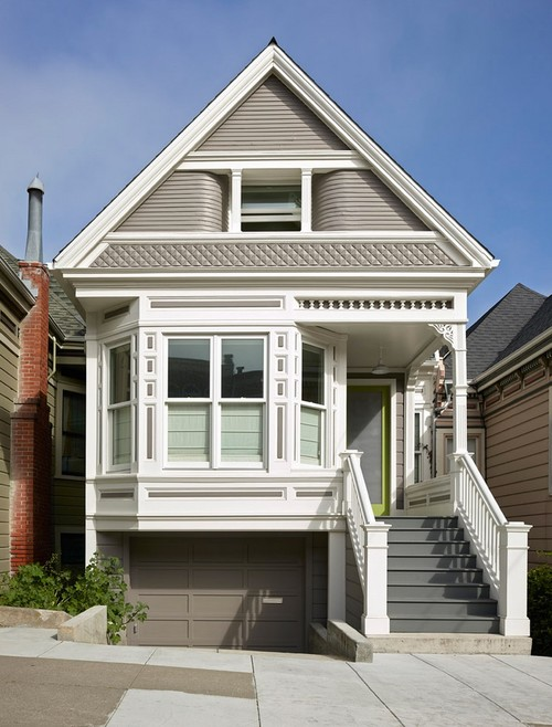 Small Victorian Home in Gray and White