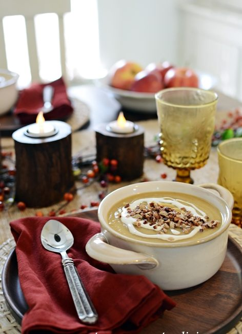Make this Heartwarming Apple and Butternut Squash Soup with Creme Fraiche
