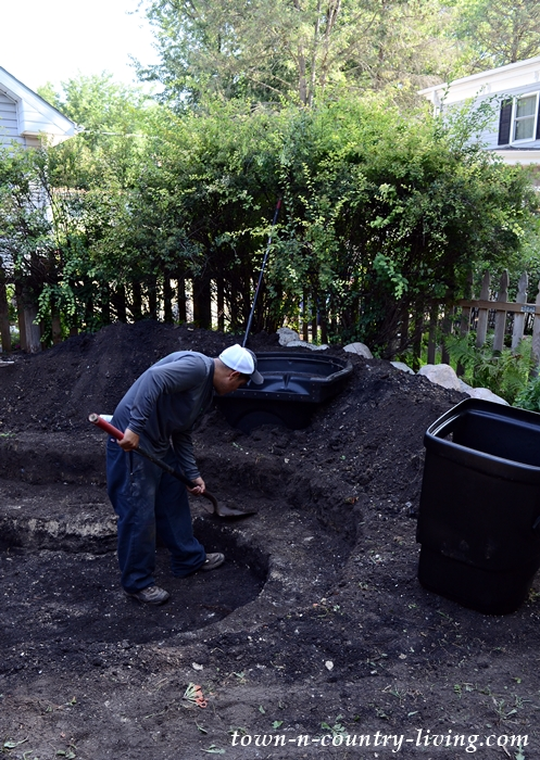Excavating the Pond for Backyard Transformation