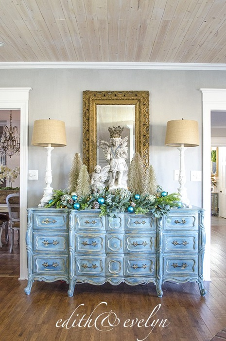 Blue Christmas from Shabby Chic Blog - Edith and Evelyn
