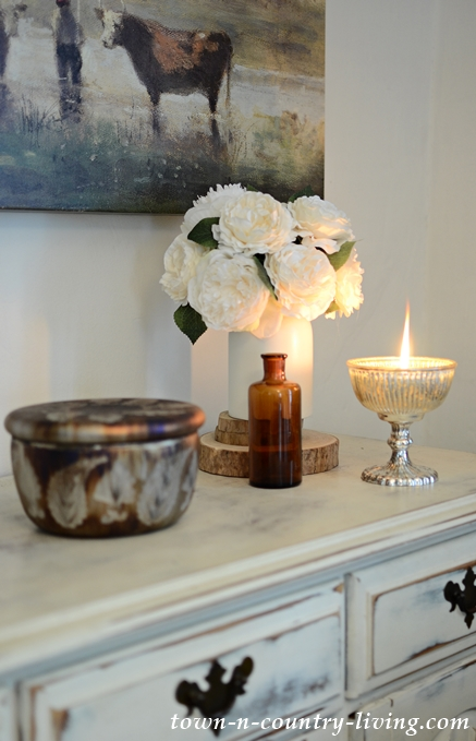 Fall Decorating with Mercury Candle from Pottery Barn