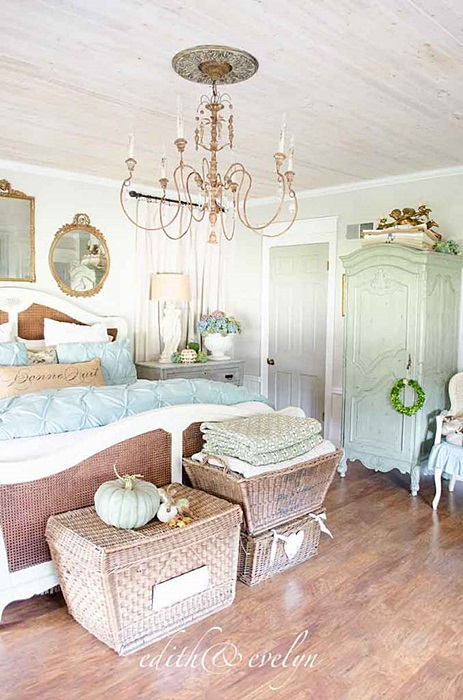 Romantic Shabby Chic Master Bedroom by Edith and Evelyn