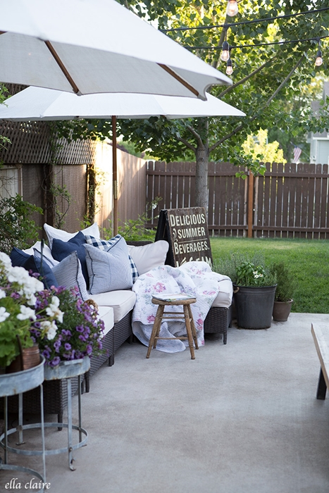 Outdoor Patio by Ella Claire