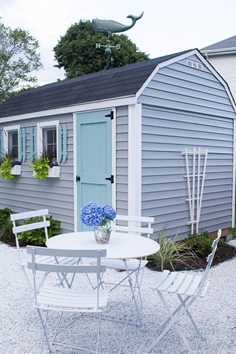 Pea Gravel Patio by Finding Silver Pennies