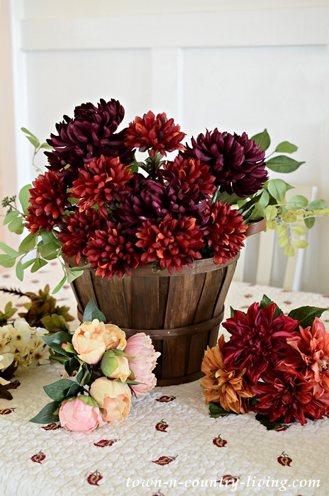 Arranging Silk Fall Flowers