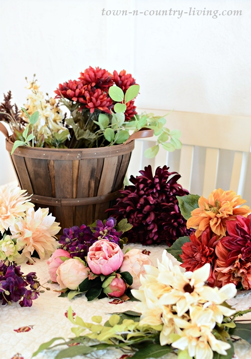 Supplies for Fall Flower Arranging