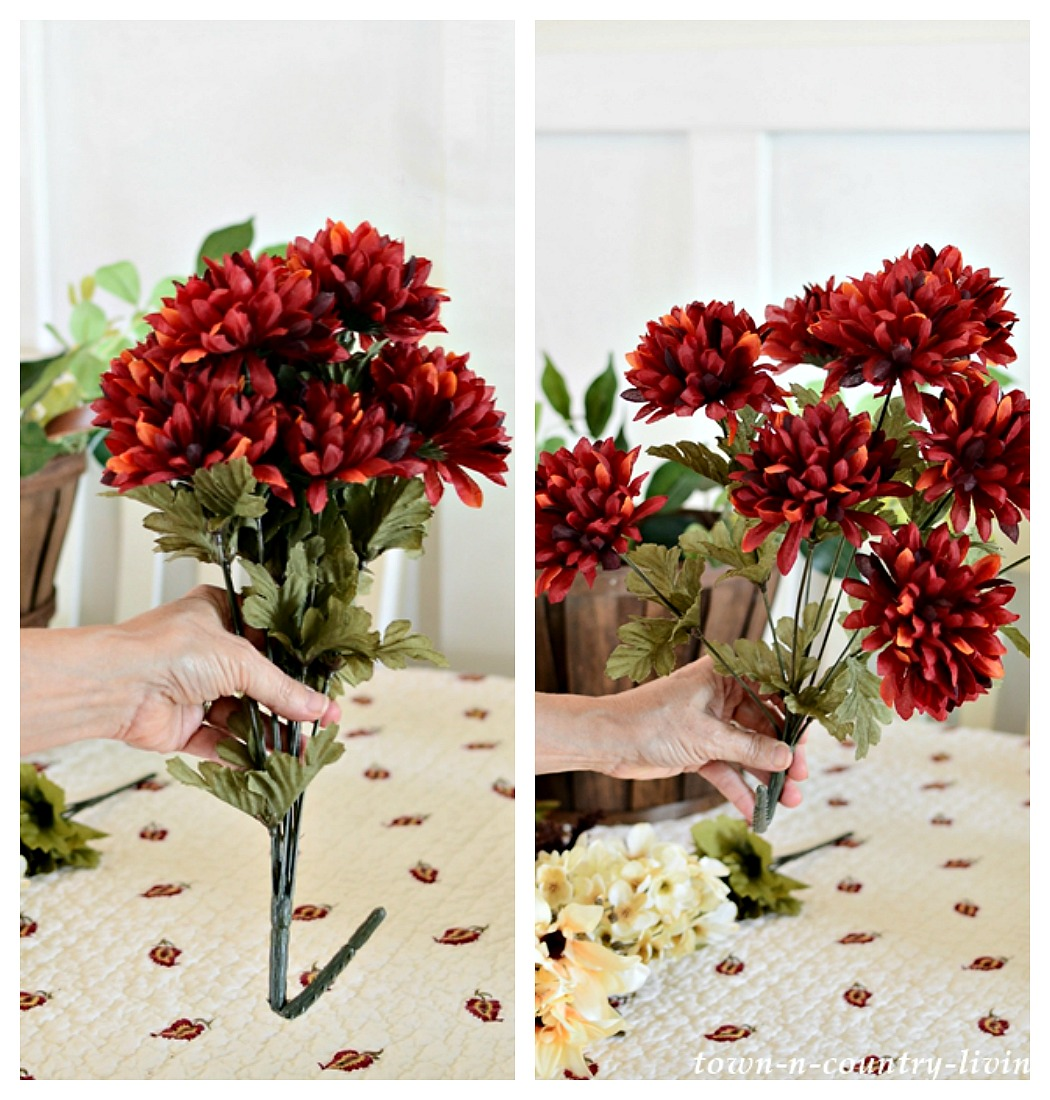 Make A Beautiful Silk Fall Flower Arrangement Town Country Living