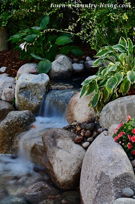 Waterfall in Garden Pond