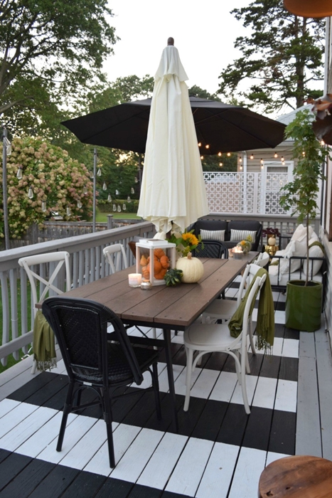 Outdoor Dining Deck by Nesting with Grace