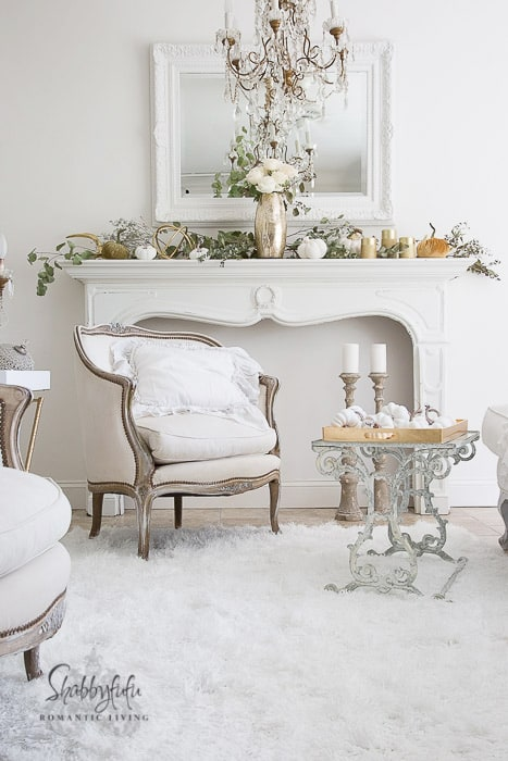 Gorgeous White Shabby Chic Living Room by Shabbyfufu