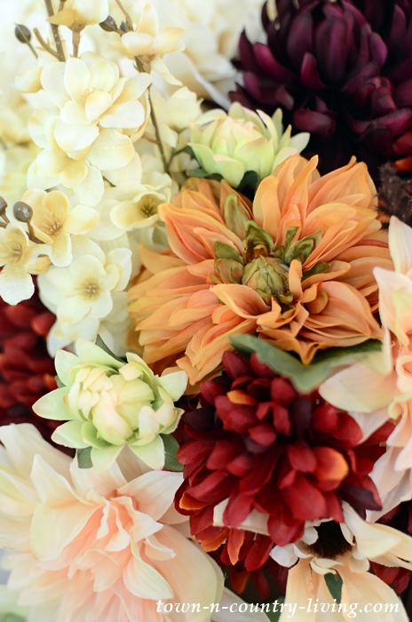 Silk Fall Flowers from Pottery Barn